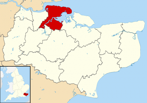 Map of Medway